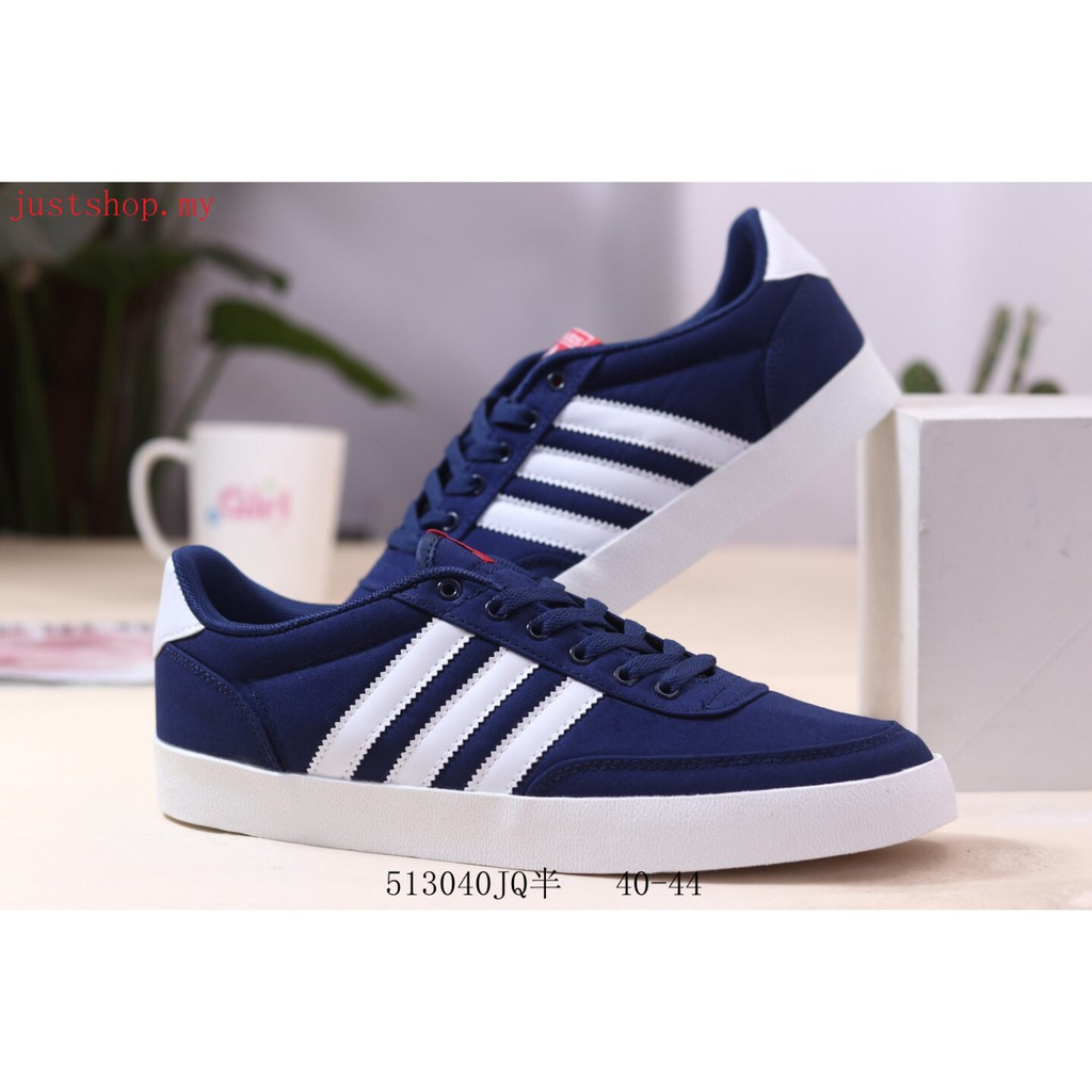 Authentic Adidas Vrs Low Men Low Top Sneakers Walking Casual shoes blue