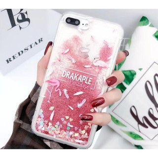 Apple iPhone 5S 6S 7 8 Plus XS Max XR Quicksand Flamingo Pink Soft Phone Cases Readystock
