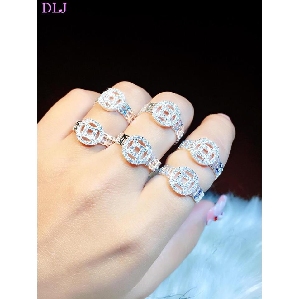 Sale cuối tuần vui vẻ nhẫn bạc nữ kim tiền 925 -20%