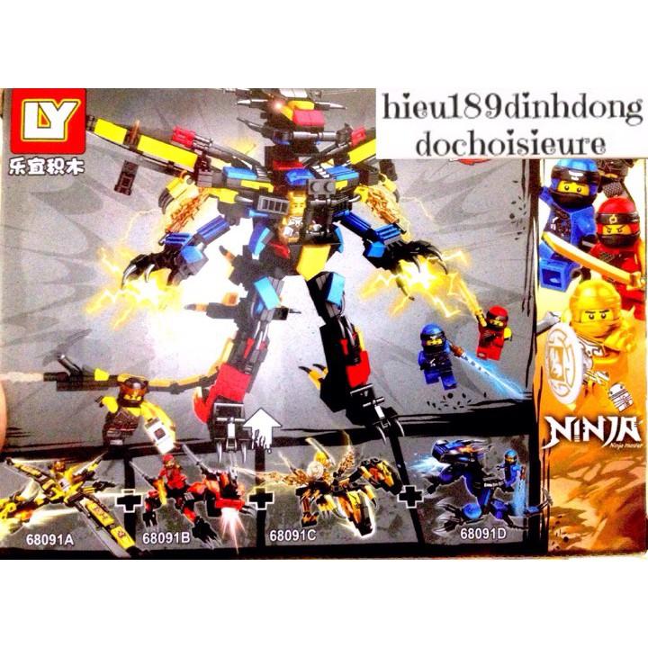 Lắp Ráp Xếp Hình Lego Ninjago 68091: (4in1) Rồng chiến đấu của các ninja (ảnh thật) (khách chat chọn mẫu)