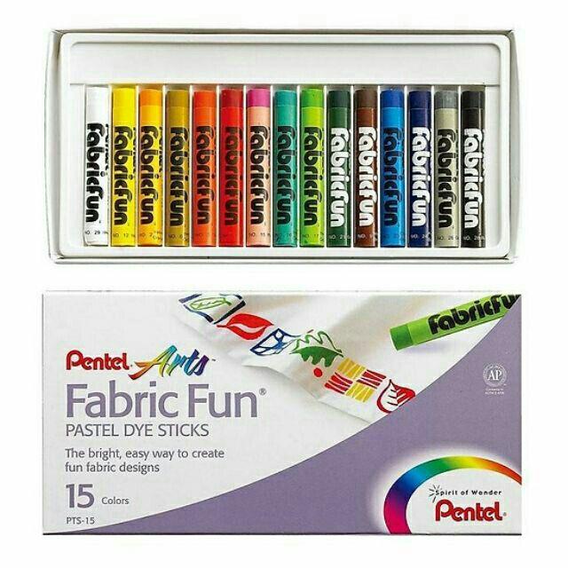 Bộ 15 màu sáp vẽ vải Pentel hàng chính hãng