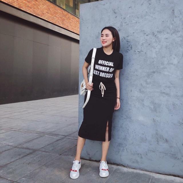 Áo pull Official + chân váy