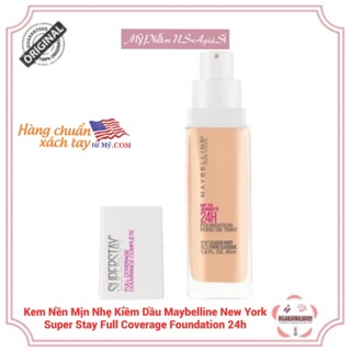 [Authentic100%]Kem Nền Mịn Nhẹ Kiềm Dầu Maybelline New York Super Stay Full Coverage Foundation 24h [Sale11/11]