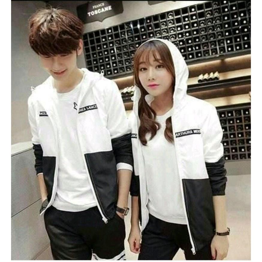 Áo khoác đôi đen trắng