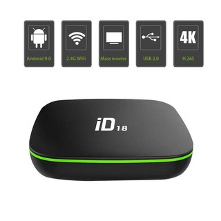 ID18 Android 9.0 OS TV Box 2GB 16GB 4K 2.4GHz Wifi Quad Core Smart T