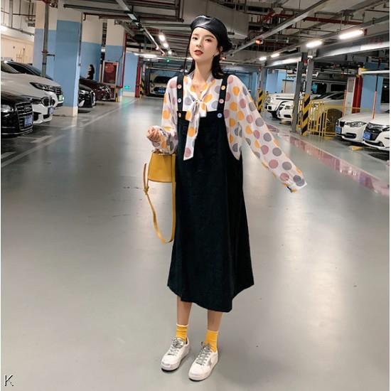 Bộ Áo Dài Tay + Chân Váy Xinh Xắn Dành Cho Nữ / Size L-4xl