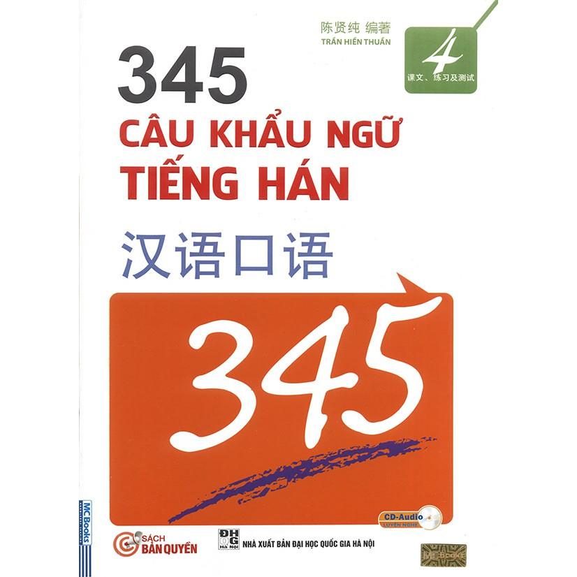 Sách - 345 Câu khẩu ngữ tiếng Hán tập 4 (kèm CD)