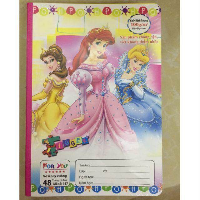 Combo 10 Vở ôly 6* công chúa và Ben 48 trang
