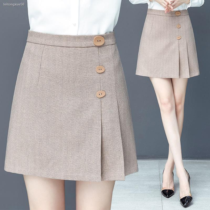 Chân Váy Chữ A Lưng Cao Xếp Ly Thời Trang 2020 Cho Nữ
