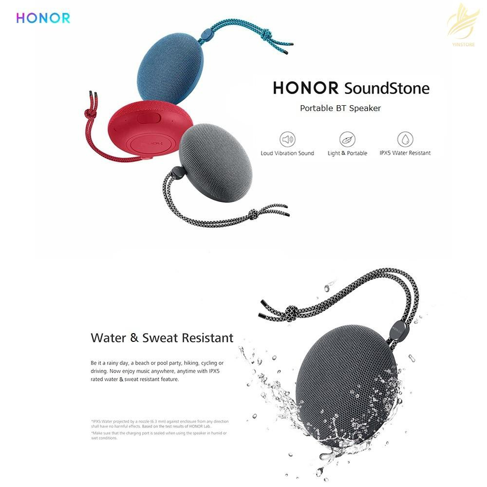 HONOR Soundstone Portable BT Speaker Outdoor IPX5 Waterproof Wireless Hands-free Subwoofer