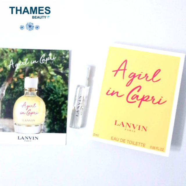 Vial Nước hoa Lanvin A Girl In Capri EDT 2ml