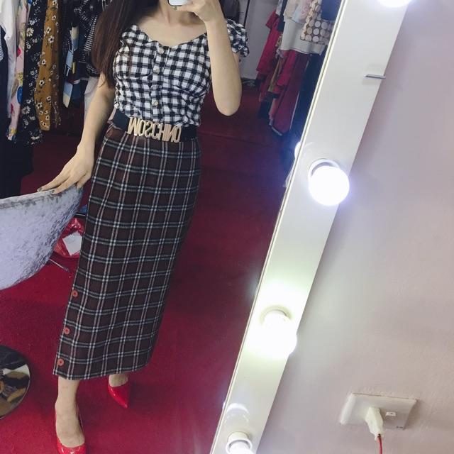 Chân váy nữ công sở kết hợp đi chơi