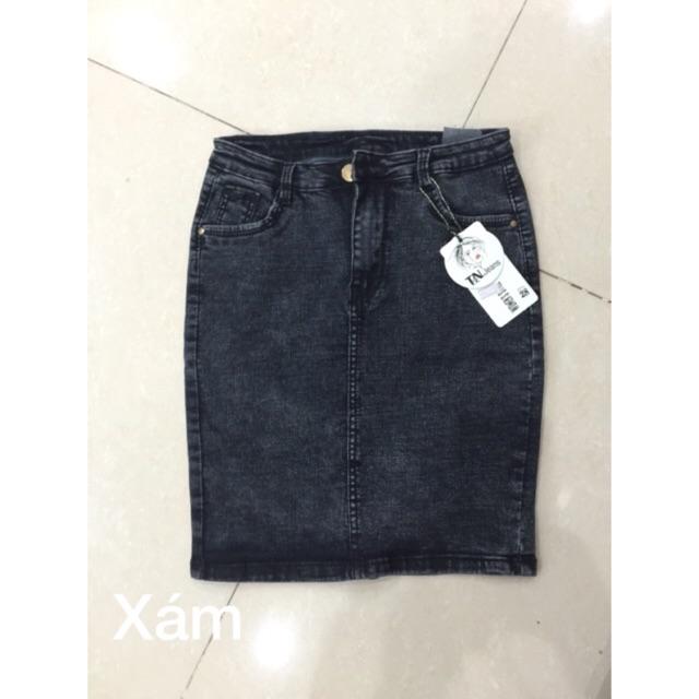Chân váy jean cotton