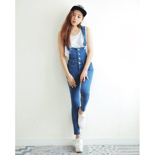 Quần Jean yếm Zara