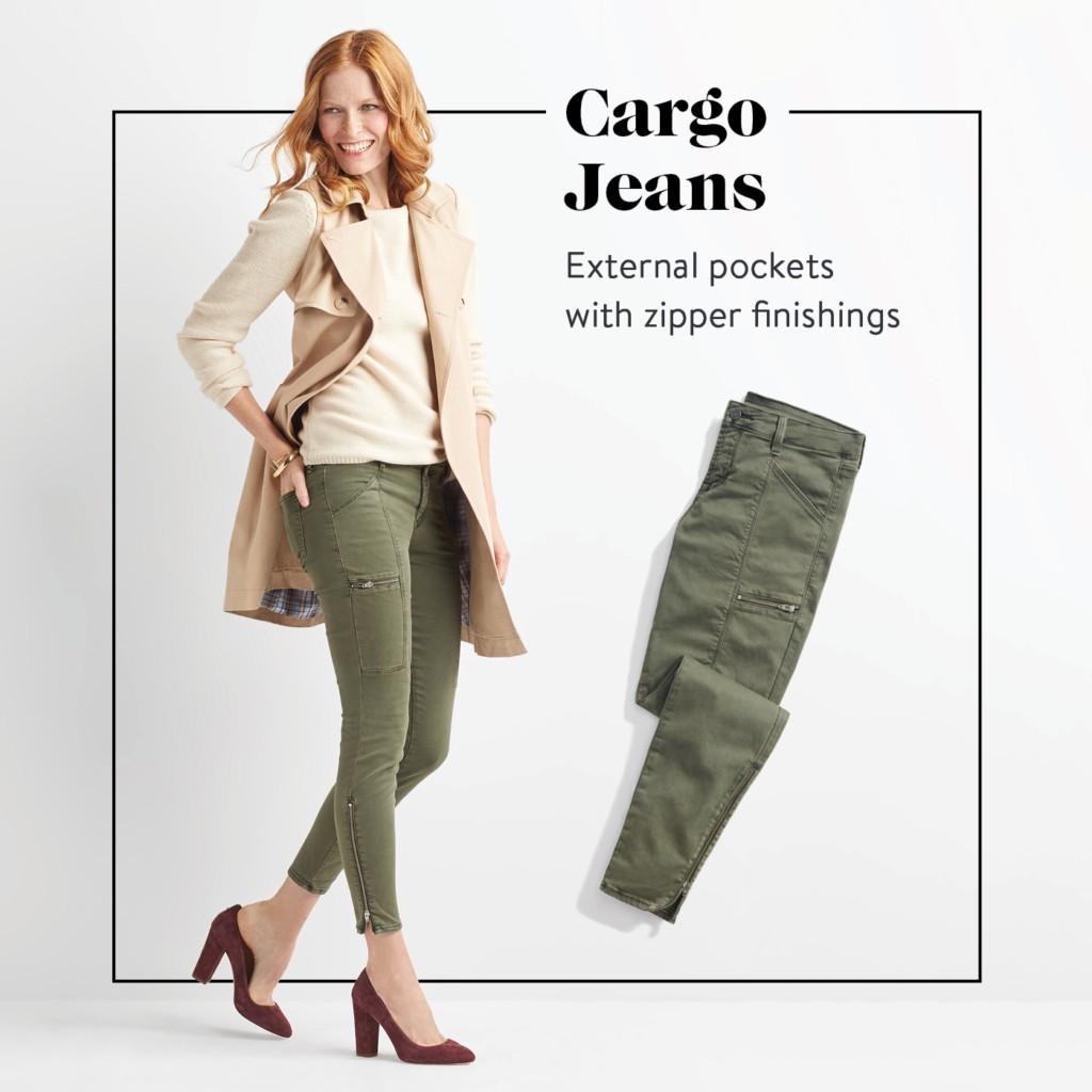 Quần Kate Skinny Cargo Jeans
