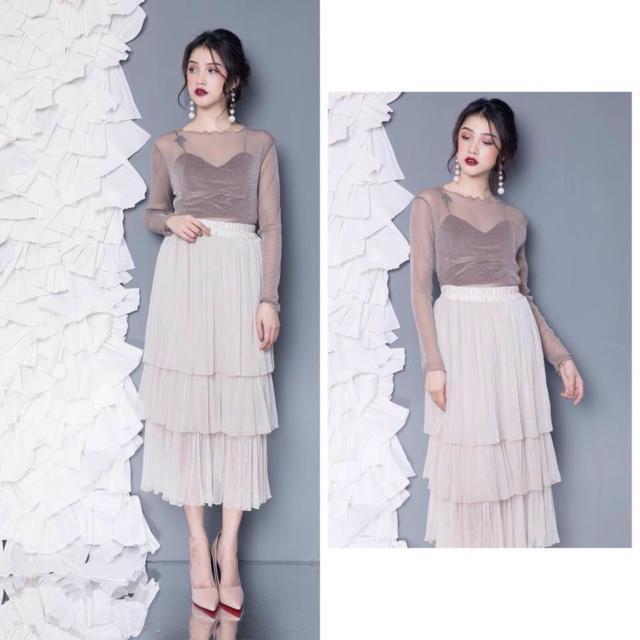 Chân váy voan 3 tầng Thái