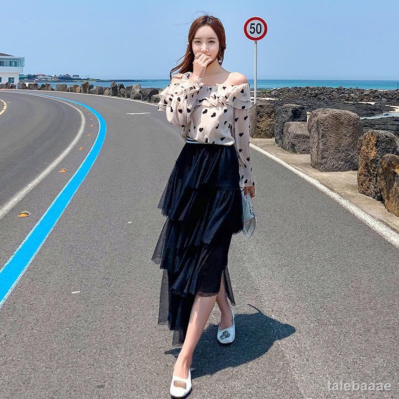 Chân Váy Dài Xếp Tầng Xinh Xắn Dành Cho Nữ 2020
