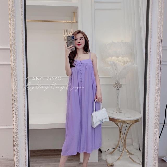 Váy đầm maxi dây cúc giữa siêu đẹp L1