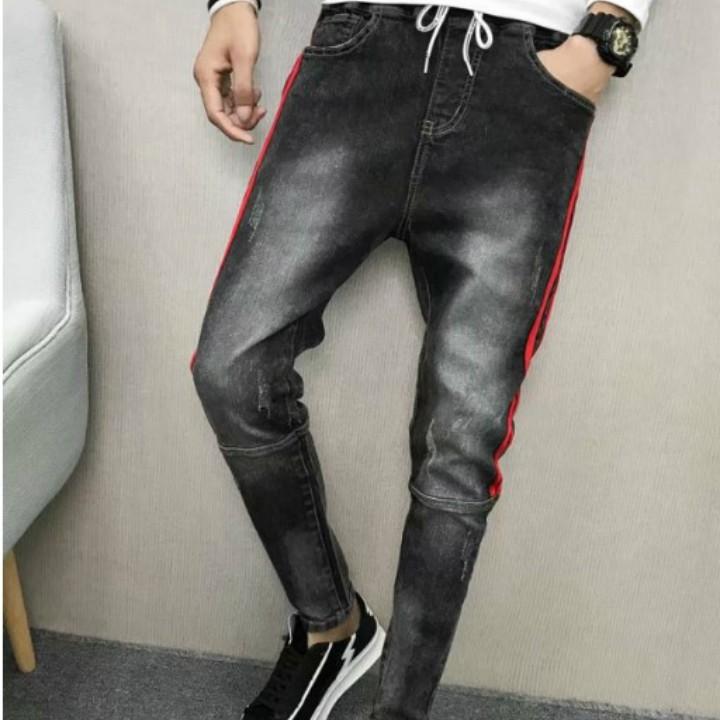 quần jean lưng thun viền Mã: ND1302