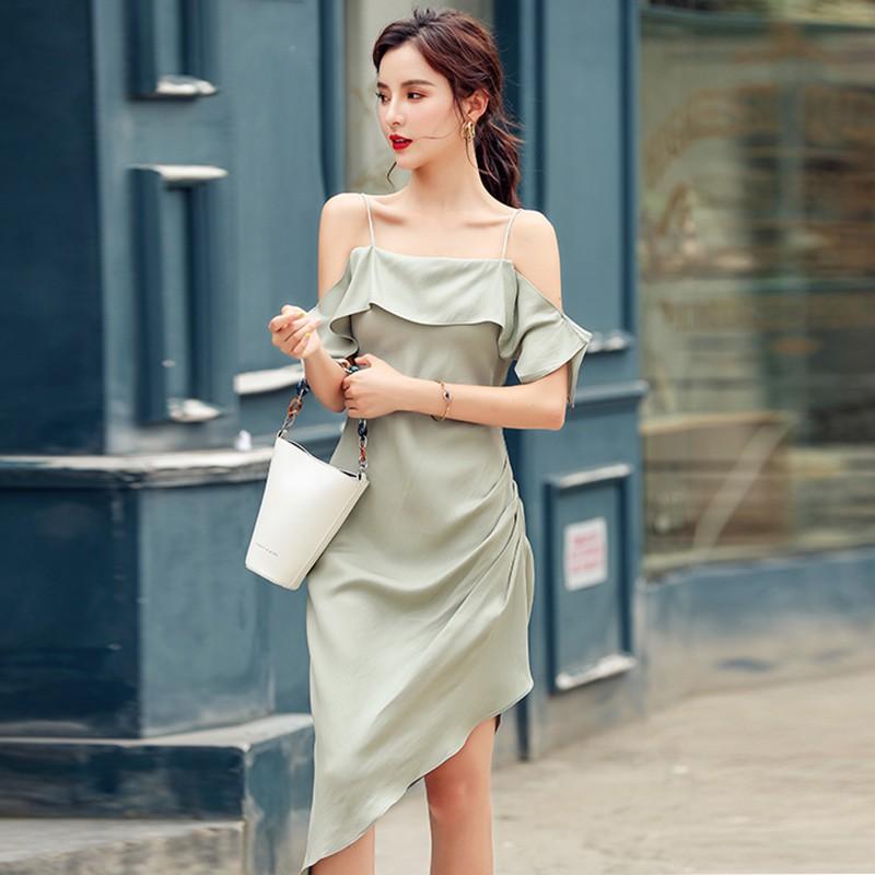 [Order] Váy đầm ôm body cuao ulzzang hai dây hở vai mềm mại V072050