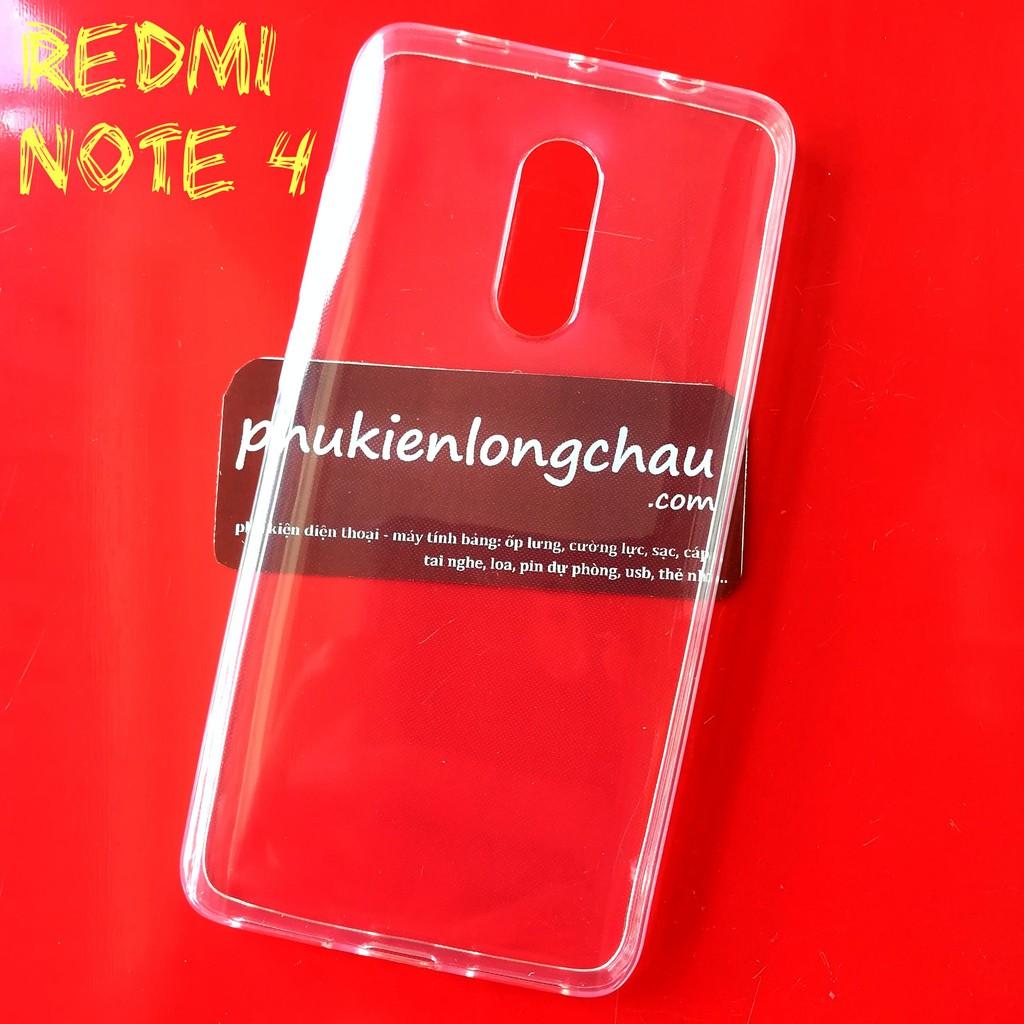Ốp Lưng Xiaomi Redmi Note 4/4x Dẻo Trong Suốt Loại Tốt