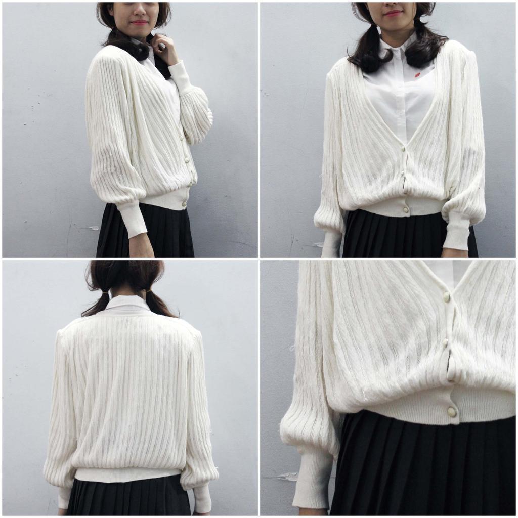 (Uu dai -30K) Áo khoác len mỏng Nhật 2hand