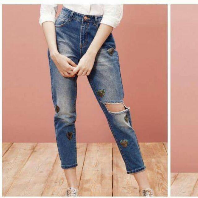 Quần jean rách, váy Jean