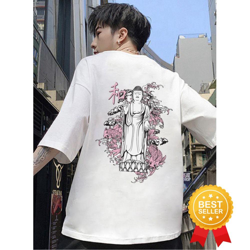 [New] Áo thun cotton unisex form suông rộng họat hình Nhật bản mã 2020L0827 - áo thun chất, giá hs-sv