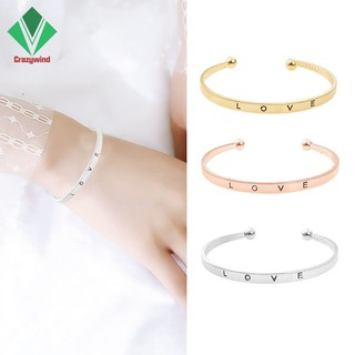 Women Open Cuff Bracelet Lady Classic Love Bangles Jewelry Party Gift