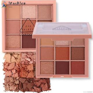 Professional 9-color Matte Shimmer Eyeshadow Palette Long Lasting Easy to Wear Waterproof Eye Shadow