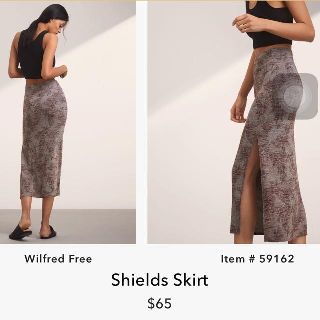 Chân váy xẻ đùi wilfred free