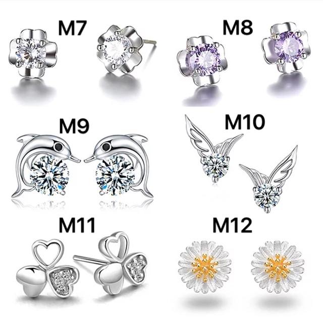 Bông tai, khuyên tai nữ cá tính hoa tai sang chảnh bạc S925 thời trang Hàn Quốc BT05 - VHT SHOP