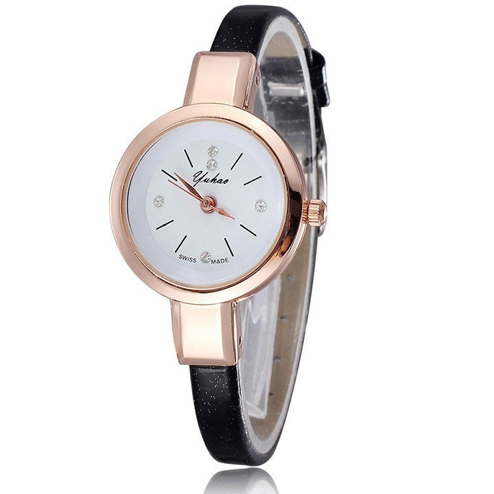 [Mã WTCHJAN giảm 20K ] Đồng hồ nữ Yuhao HSP6721 dây da pu, mặt kính size 26mm
