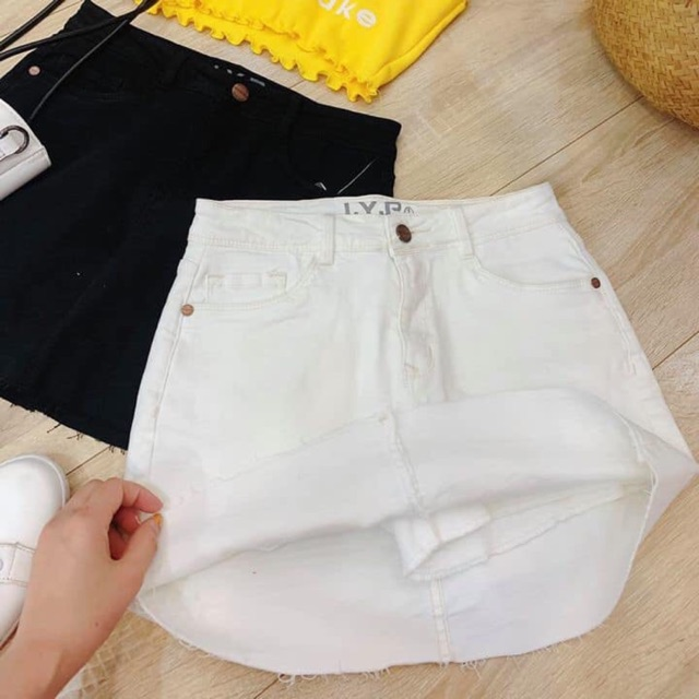 Chân váy jean có quần trong