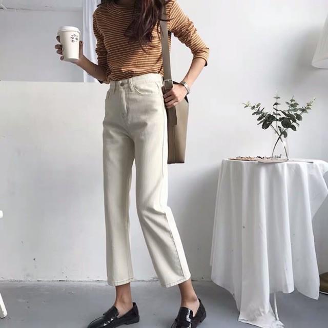 [ORDER] Quần jeans suông/ Quần jeans trắng953