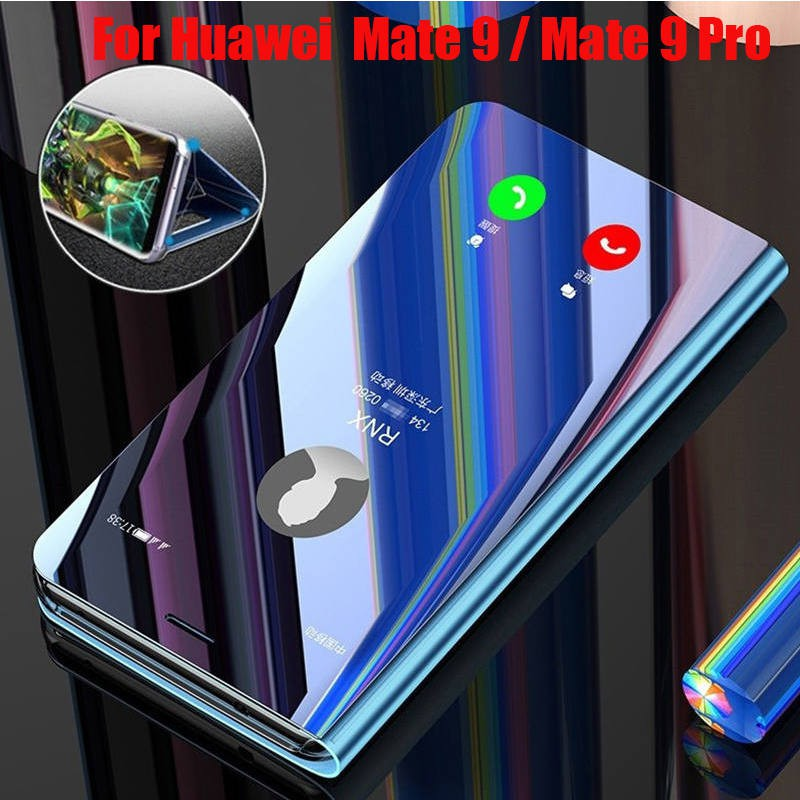 Huawei Mate 9 / Mate 9 Pro Case Flip Mirror Plating Leather Casing Phone Case Huawei Mate 9 Mate9 Pro Cover Stand