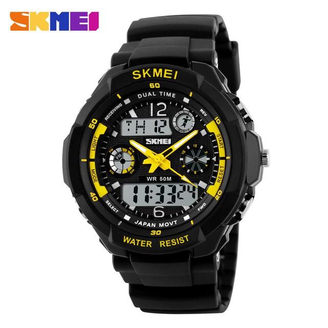 [Mã WTCHJAN giảm 20K ] Đồng hồ trẻ em Skmei 1060 mặt điện tử dây cao su