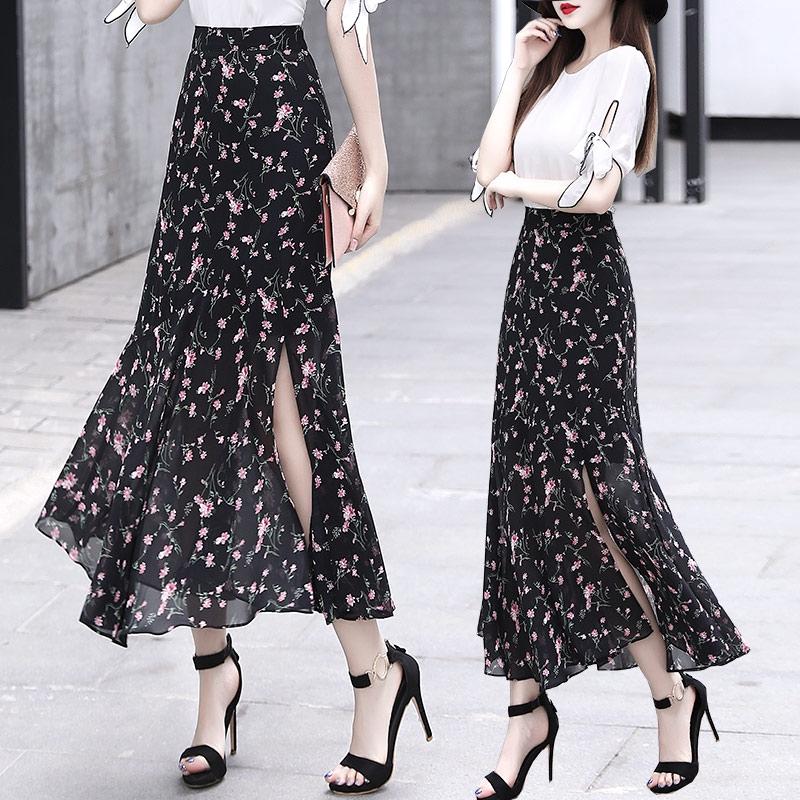 Chân Váy Dài Họa Tiết Hoa Thời Trang Nữ Tính