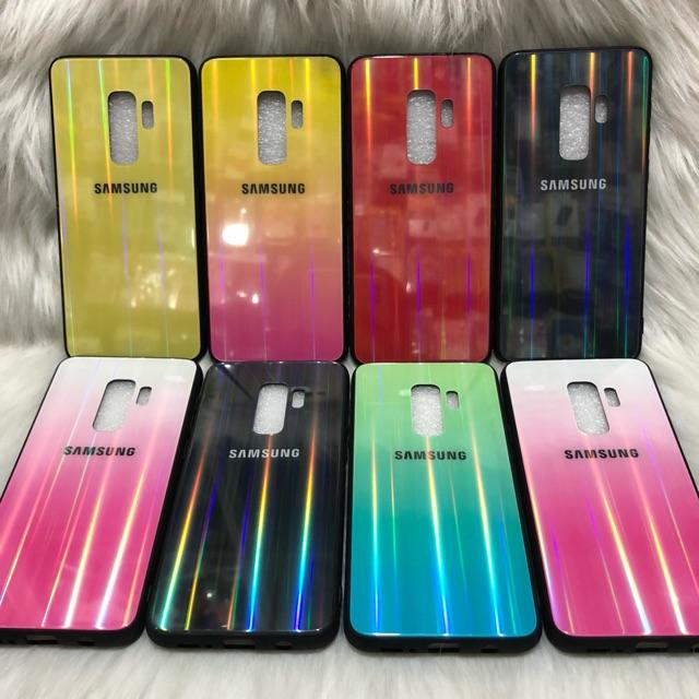 Samsung Galaxy S9 Plus (+) Ốp lưng mặt kính cường lực 7 màu cao cấp
