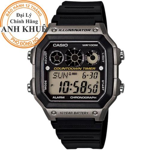 Đồng hồ nam dây nhựa Casio chính hãng Anh Khuê AE-1300WH-8AVDF