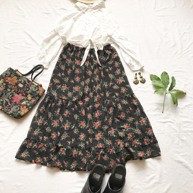 414781018 - Chân Váy Hoa Vintage