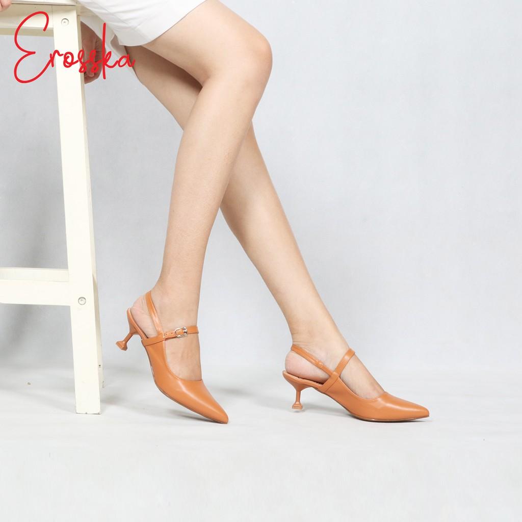 Giày Cao Gót Thời Trang Nữ Erosska EH025 - Vàng bò