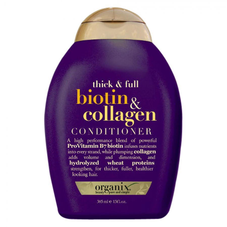 Dầu xả Ogx Thick and Full Biotin and Collagen Conditioner 385ml của Mỹ