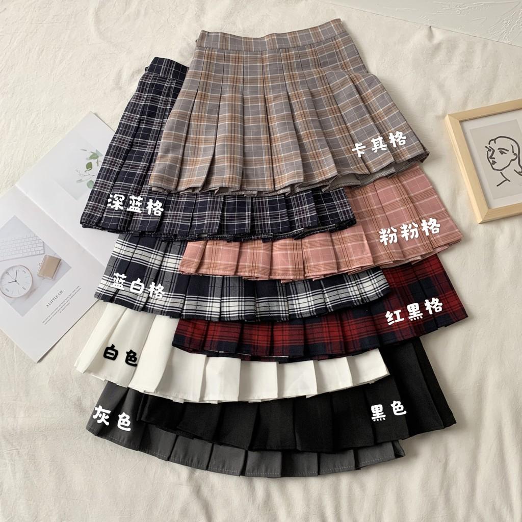 Chân Váy Chữ A Xếp Ly Lưng Cao Thời Trang Mùa Xuân 2020 Cho Nữ