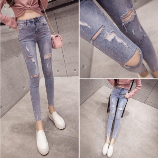 Quần jeans nữ hàng quảng châu kèm ảnh thật