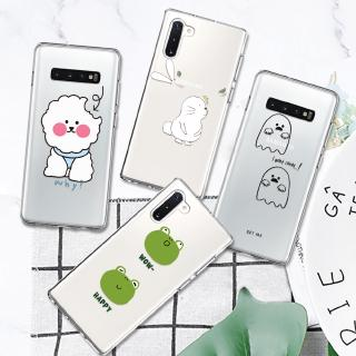 Hình ảnh Funny Animal Dog Rabbit Pattern Silicone Case For Samsung Galaxy Note 4 5 8 9 10 Plus