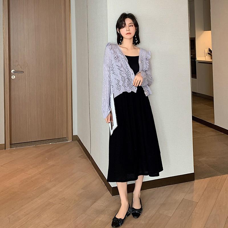 Bộ Áo Sweater + Chân Váy + Áo Sweater Xinh Xắn Dành Cho Nữ