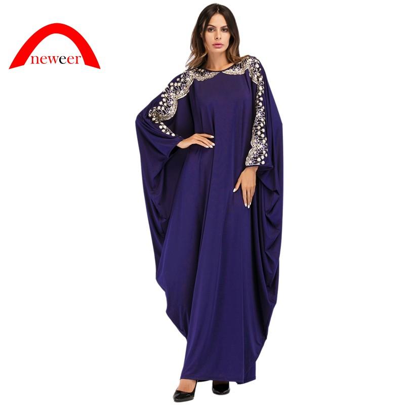 Đầm tay cánh dơi thiết kế hợp thời trang cho phụ nữ Islam