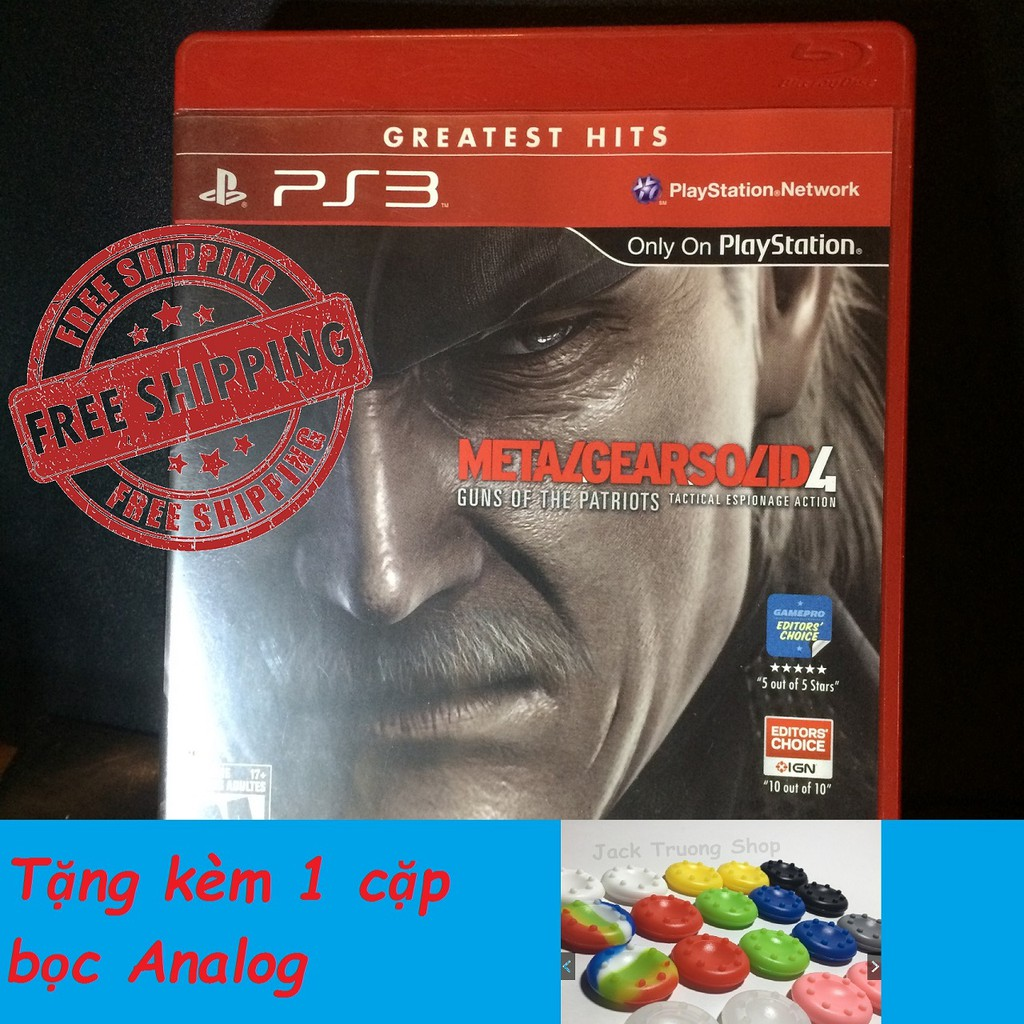 Game Metal Gear Solid 4 Full hộp sách