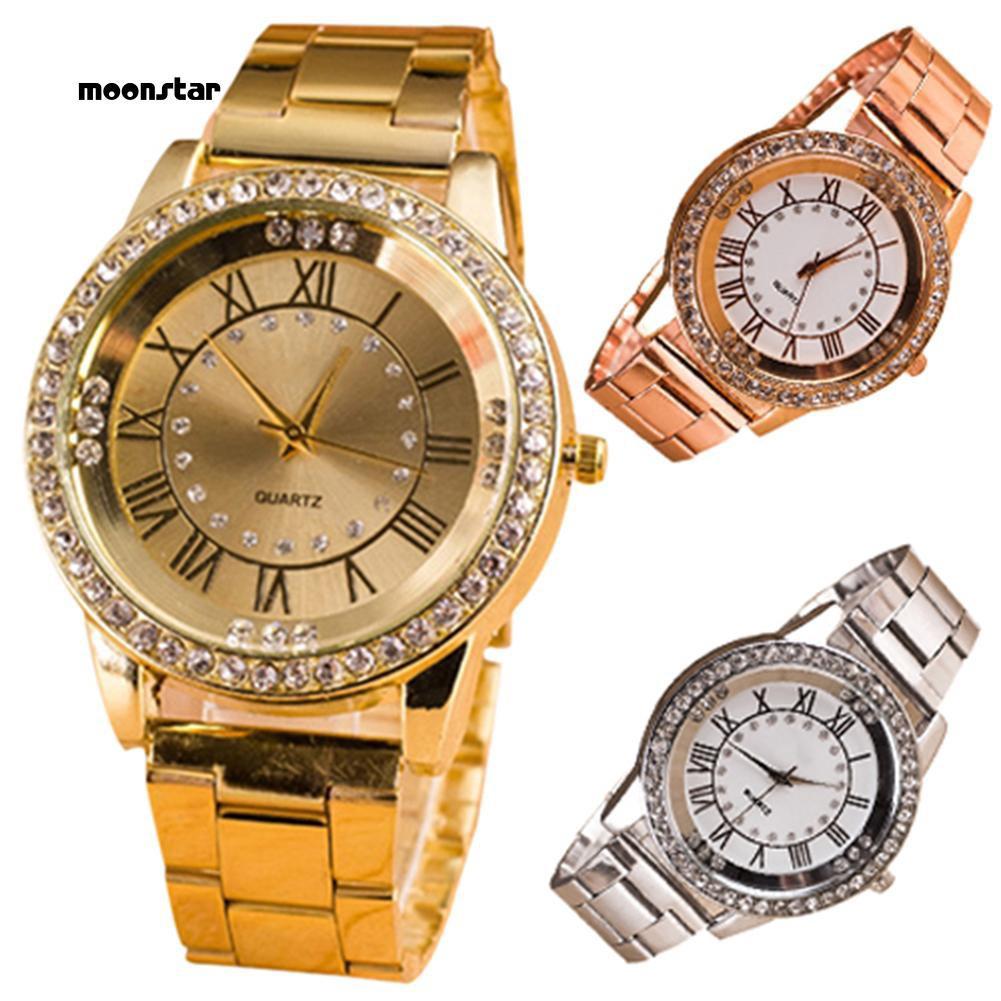 Đồng hồ nữ mặt tròn đính đá thời trang